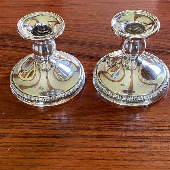 PAIR of Prelude Candle Holders by International -Sterling Silver N212